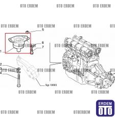 Fiat Bravo Motor Takozu Orjinal 7778602  - 5