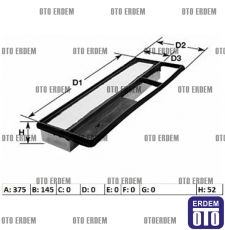 Fiat Doblo Hava Filtresi 51775324