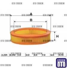 Fiat Doblo Hava Filtresi Benzinli 1.2 8V 71754083 - 46536222