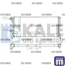 Fiat Doblo Motor Su Radyatörü  55174187 - 3