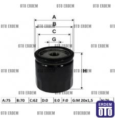 Fiat Doblo Yağ Filtresi 1.9 46805832