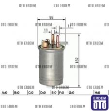 Fiat Doblo Yakıt Filtresi 1.9D 46531688