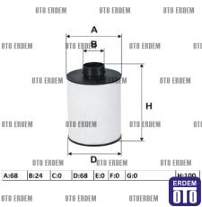 Fiat Doblo Yakıt Filtresi Keçeli 1.3Mjet 77362340