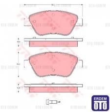 Fiat Doblo Yeni Model Ön Fren Balatası TRW 98845078