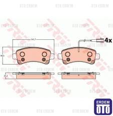 Fiat Ducato Arka Fren Balatası Fişli TRW 77367094