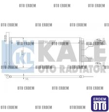 Fiat Ducato Klima Radyatörü 1361235080 - 2