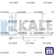 Fiat Fiorino Klima Radyatörü 51931470 - 2