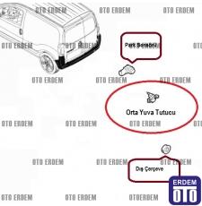 Fiat Fiorino Park Sensörü Çerçevesi Yuvası 1392195080 - 735491290 - 5