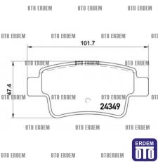 Fiat Grande Punto Arka Fren Balatası 1605356