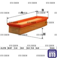 Fiat Idea Hava Filtresi Süngerli 1.4 8v 55192012