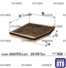 Fiat Idea Kabin Filtresi 46723245