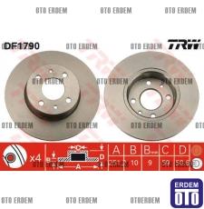 Fiat Linea Arka Fren Disk Takımı TRW 46831042