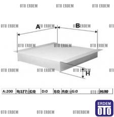 Fiat Linea Kabin Filtresi 77364561