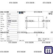Fiat Linea Klima Peteği Radyatörü  51785227 - 3