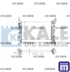 Fiat Linea Motor Su Radyatörü 2 Sıra  51784706 - 3