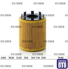 Fiat Linea Yağ Filtresi Tırnaklı Tip 1.3Mjet 73500049