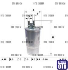 Fiat Linea Yakıt Filtresi 77363657