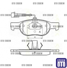 Fiat Marea Ön Disk Balata Fren Takımı 71752989