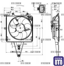 Fiat Palio Klimalı Fan Motoru 46449101 - 2