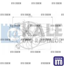 Fiat Palio Klimalı Fan Motoru Komple 51702435 - 2