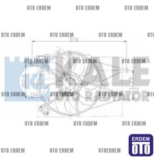 Fiat Palio Klimalı Fan Motoru Komple 51702435 - 3