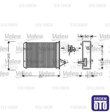 Fiat Palio Siena Kalorifer Radyatörü Peteği Valeo 7078698 - 2