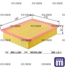 Fiat Sedici Hava Filtresi 1.9D 71743887
