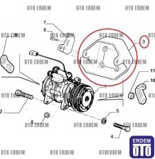 Fiat Siena Klima Bağlantı Ayağı 46448491 - 5