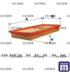 Fiat Stilo Hava Filtresi 1.4 16V 46783544 - 2