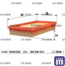 Fiat Stilo Hava Filtresi 1,6 46809151 - 2