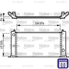Fiat Stilo Motor Su Radyatörü 1.4 16V 51735217