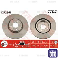 Fiat Stilo Multi Vagon Ön Fren Diski Takım TRW 46455892