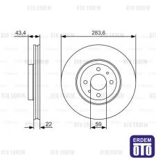 Fiat Stilo Multi Vagon Ön Fren Diski Tek Bosch 46455892 - 3