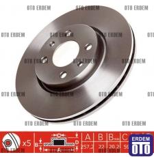 Fiat Stilo Ön Fren Disk Bosch Tek 46401356