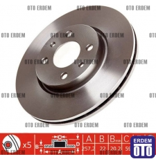 Fiat Stilo Ön Fren Disk Takımı MGA 46401356 - 2