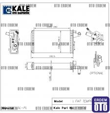 Fiat Tempra Kalorifer Radyatör Peteği Musluklu Orjinal Alüminyum 7754065 - 3