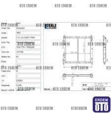 Fiat Tempra Motor Su Radyatörü 1 Sıra 7641779 - 2