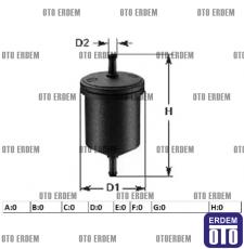 Fiat Tempra Yakıt Filtresi 7585348