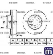 Fiat Uno 60 Ön Fren Diski MGA (Takım) 4208311 - 2