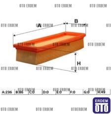 Fiat Uno 70 Hava Filtresi 7554755