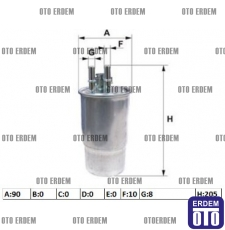 Grande Punto Yakıt Filtresi 1.3Mjet 77363804