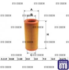 Hava Filtresi Punto - Grande Punto 1900 Turbo Dizel JTD 46552772
