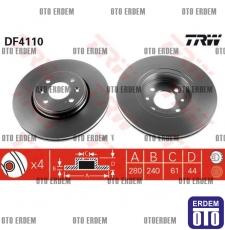 Laguna 1 Ön Fren Disk Takımı TRW 7701207829