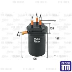 Megane 2 Yakıt Filtresi 1.5Dci Valeo 8200186217