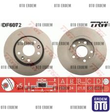 Megane 4 Ön Fren Disk Takımı TRW 402063793R