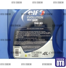 Motor Yağı 5W-30 Elf Evolution 900 SXR (4 Litre)  - 3