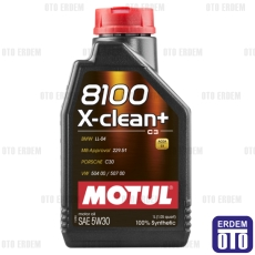 Motul 8100 X-Clean+ 5W30 1Lt Motor Yağı