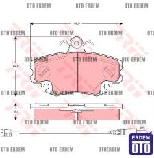 Ön Fren Balatası R9/R19/R21/R25/MEGANE-1/LOGAN/SANDERO 7711130071 - GDB400