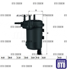 Renault Kangoo Yakıt Filtresi 1.5 dCi 8200151379