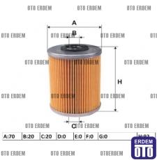 Renault Kangoo Yakıt Filtresi 1.9D 7701476463